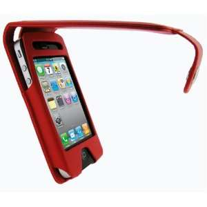 igadgitz Red PU Leather Case Cover Holder for Apple iPhone