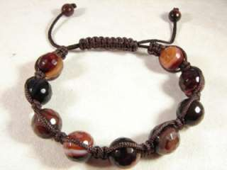 NATURAL DREAM AGATE GEMSTONE SHAMBALLA STYLE 7 TO 8 ADJUSTABLE