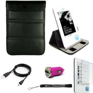 Black Leather Premium Durable Cover Sleeve Carrying Case