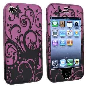 Snap on Case for Apple® iPhone® 4/4S, Purple / Black