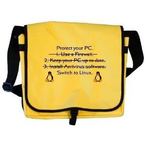 Switch to Linux Penguin Messenger Bag by CafePress