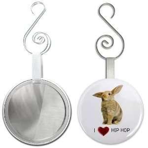 Creative Clam I Heart Hip Hop Easter Bunny 2.25 Inch Glass