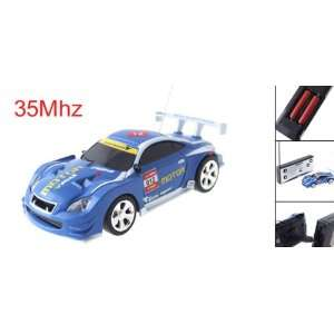 Blue Mini Radio Remote Control RC Racing Race Car Toy Toys & Games