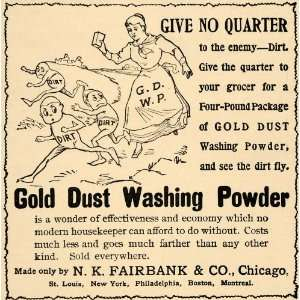 1893 Ad N K Fairbank & Co Gold Dust Washing Powder Soap