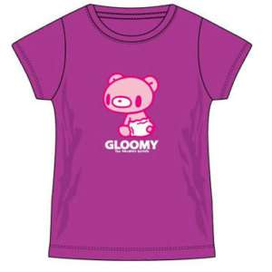 Gloomy Bear In Diaper Womens Purple Anime T Shirt