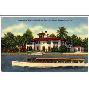 boat passing Fred Snite Jr.s Home, Miami Beach, Fla: Home & Kitchen