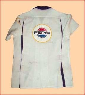 VTG RAYON BOWLING SHIRT PEPSI COLA Ca 1950s SAY PEPSI PLEASE NAT