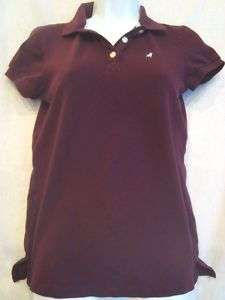 OLD NAVY purple PREPPY Polo shirt collar top sz SMALL