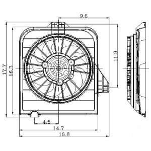 01 05 DODGE CARAVAN A/C Condenser Cooling Fan Shroud Assembly (2001 01