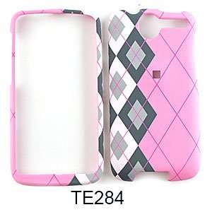 CELL PHONE CASE COVER FOR HTC DESIRE G7 BLACK WHITE PLAID