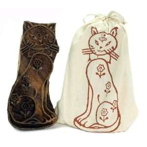 Wood Block Stamp   Cat   Fair Trade: Home & Kitchen
