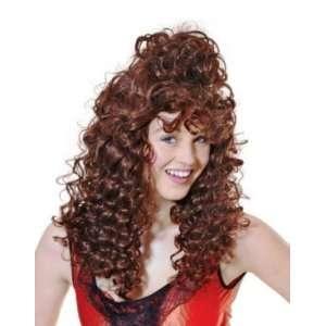 Saloon Girl Brown Fancy Dress Wig Inc FREE Wig Cap Toys
