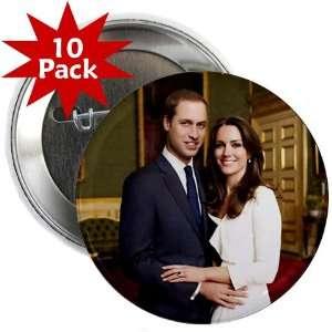 Prince William Kate Middleton Royal Engagement 10 Pack of 2.25 Pinback