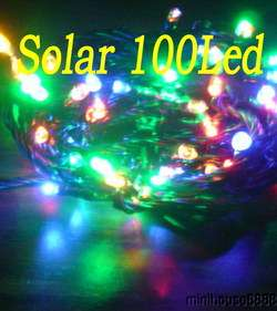 Solar Powered 100 Multi colored Led Light 15+hour h355
