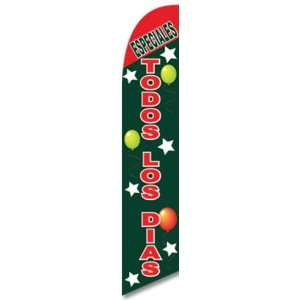 12ft x 2.5ft ESPECIALES TODOS LOS DIAS Feather Banner Flag