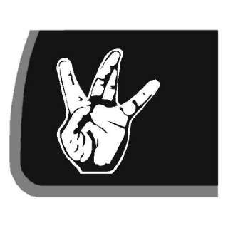 West Side Hand Sign Car Decal / Sticker