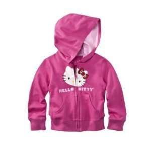 Hello Kitty Toddler Girls Big Face Hoodie   Pink 2T