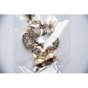 Flower Rhinestone Ladies Sweater Necklace Fashion Jewelry
