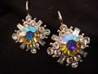 NEW KIRKS FOLLY FAIRY DYNASTY SPARKLE CRYSTAL EARRINGS