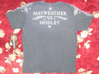 Affliction Mens Mayweather VS. Mosley Shirt Size Large L Authentic