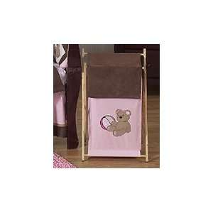 Baby and Kids Clothes Laundry Hamper for Pink and Chocolate Teddy Bear