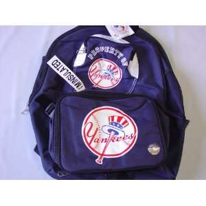 New York Yankees MLB Logo Backpack w/ Lunch Box Sports