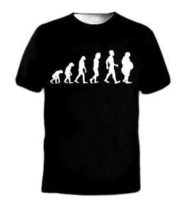 Fast Food Fat Man Evolution Boy Funny Obesity T Shirt