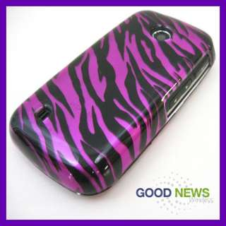 for Verizon LG Cosmos Touch VN270 Hot Pink Zebra Hard Case Phone Cover