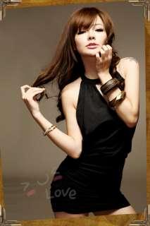 New Love Free S&H Black Cotton Womens Mini Dress 895