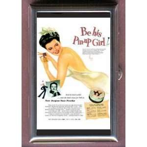VINTAGE JERGENS AD PIN UP GIRL VARGAS Coin, Mint or Pill Box Made in