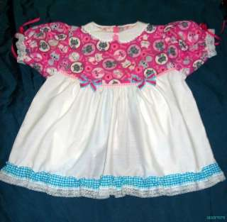 Baby Sissy HERE KITTY KITTY MEMOW Peek A Boo Dress Set w/ Diaper Cover
