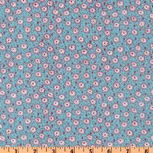44 Wide Jolie Fleur Shirting Floral White/Red/Blue