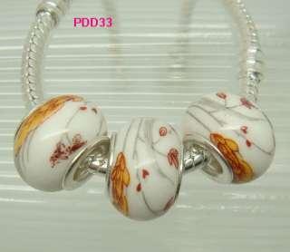 big hole colored ceramic beads FIT European Charm Bracelet PDD