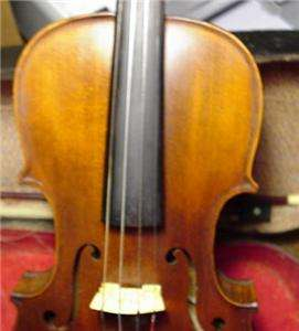 Vintage / Antique HOPF Violin,Bow, & Wood Case. Made in Germany