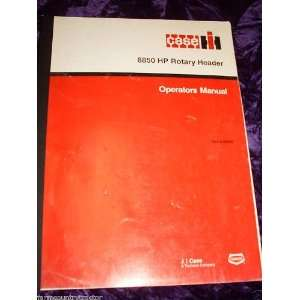 : Case 8850 HP Rotary Header OEM OEM Owners Manual: Case 8850: Books