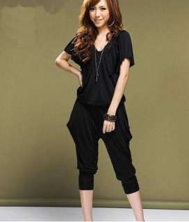 HOT New Womens Overall Stretch Jumpsuit Harem Pants Trousers Rompers