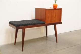 Danish Modern TEAK Entry Hall Chest Bench Table Nakashima Mid Century