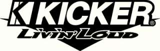 Kicker Audio Livin Loud, rear windshield decal/sticker