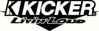 Kicker Audio Livin Loud, rear windshield decal/sticker