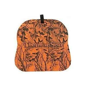 Therm A Seat 3/4 Orange Camo: Sports & Outdoors