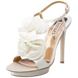 NIB BADGLEY MISCHKA Randee white wedding bridal womens shoes size 10