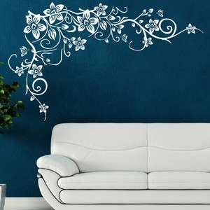 FLOWER TREE wall butterfly vine art stickers decals stencils large