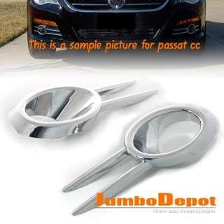 FRONT BUMPER CHROME FOG LIGHT COVER TRIMS FIT VW TIGUAN
