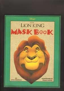 1994 Disneys The Lion King Mask Book Unused Franc Mateu Gina Ingoglia