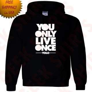 Live Once Drake Hooded Sweat shirt OVOxo YOLO Take care Hoodie YL 5X 5