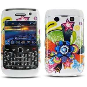Blackberry Bold 9700 9780 Flower and Star Design Protector