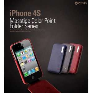 iPhone 4/4S Leather Case Masstige Leather Color Point Folder Series