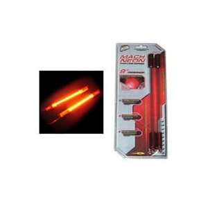 Thin LIne  9 inch Sound Activated Neon Rods  Red(pair): Automotive