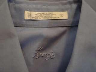 Foxcroft 12 Light Blue Button Front Shirt Top Wrinkle Free Cotton