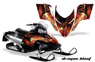POLARIS SHIFT, RMK, DRAGON, SLED GRAPHICS KIT DECALS DB